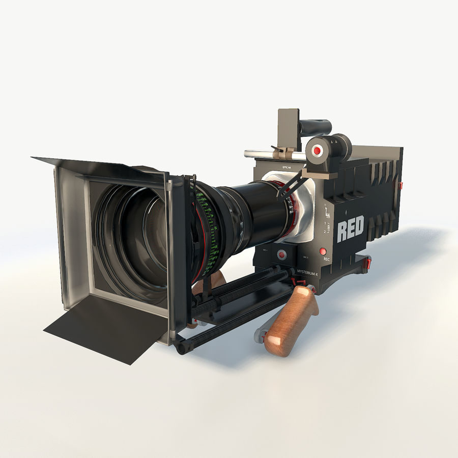 Camera RED epic low poly royalty-free 3d model - Preview no. 2