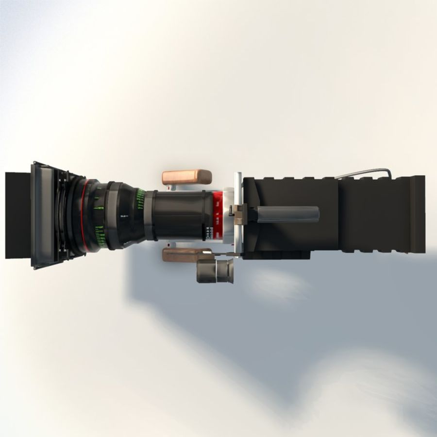 Camera RED epic low poly royalty-free 3d model - Preview no. 10