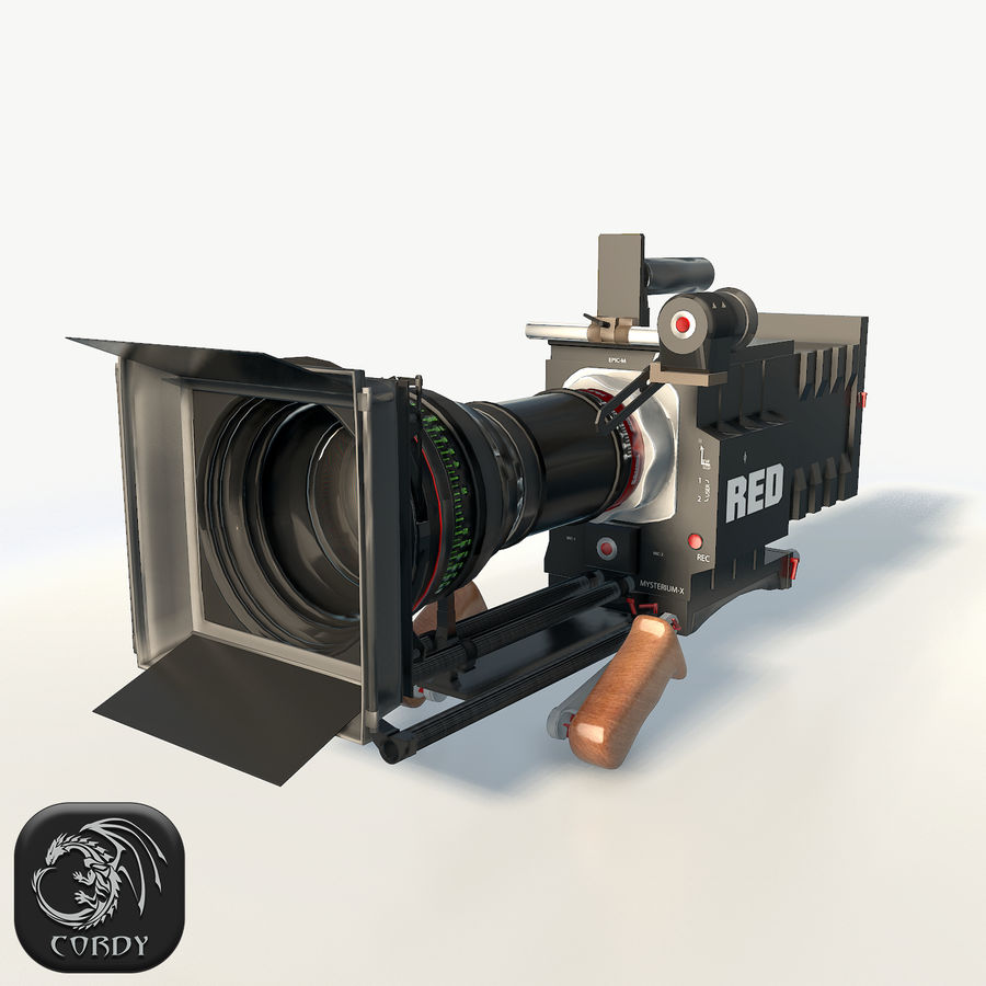 Camera RED epic low poly royalty-free 3d model - Preview no. 1