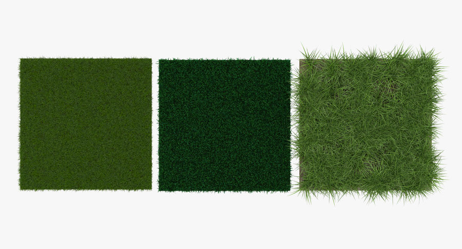 Grass Fields Collection 2 royalty-free 3d model - Preview no. 2