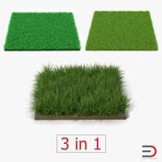 Raccolta campi in erba 2 3d model