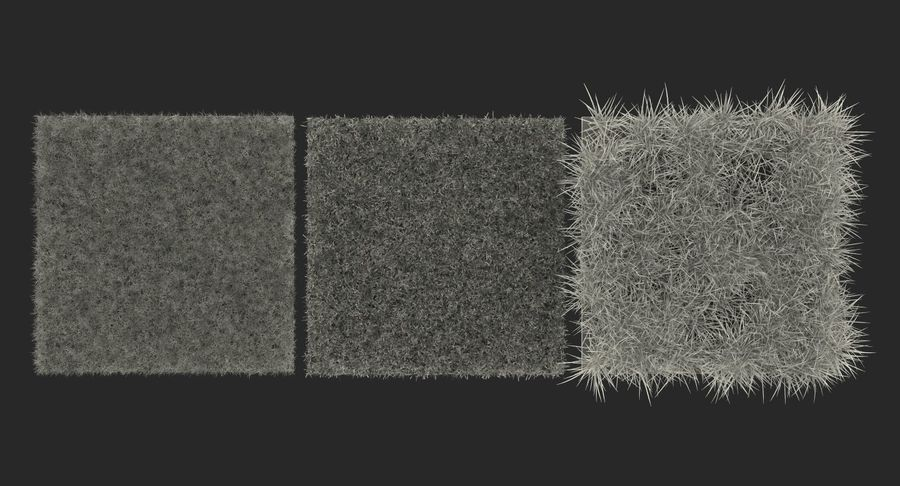 Grass Fields Collection 2 royalty-free 3d model - Preview no. 11