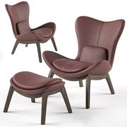 Calligaris Lazy armchair & footstool 3d model