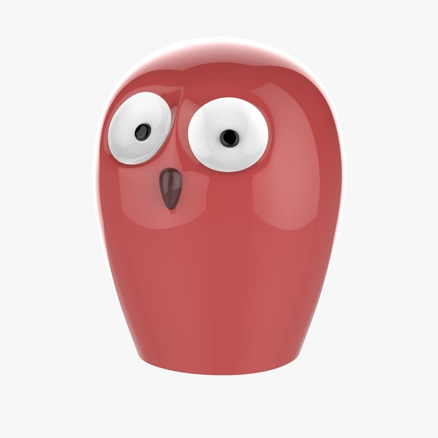 Owl Decoration royalty-free 3d model - Preview no. 6
