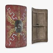 Roman Medieval Shield 3D Model 3d model