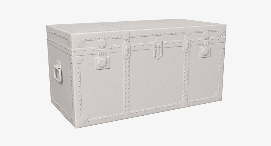 Antique Chest royalty-free 3d model - Preview no. 5