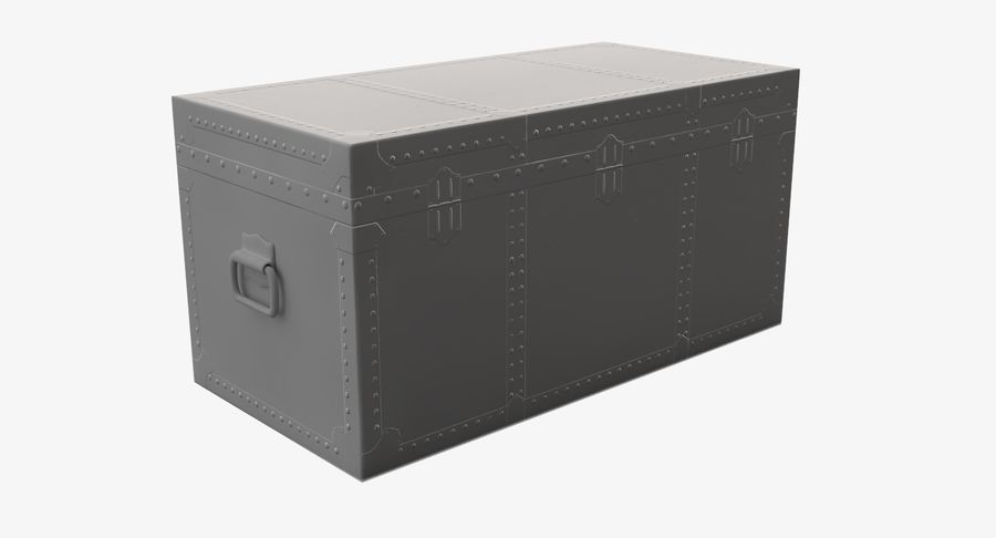 Antique Chest royalty-free 3d model - Preview no. 11