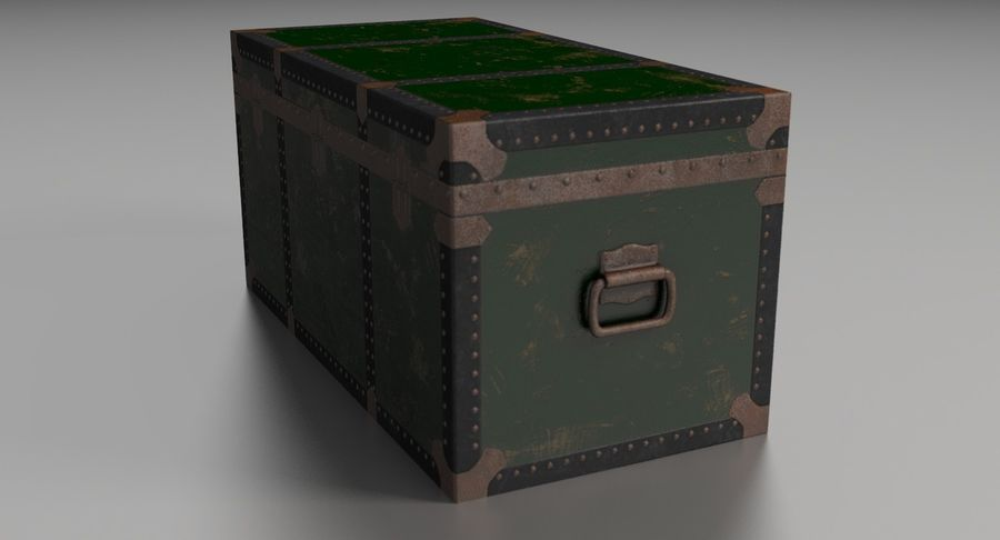 Antique Chest royalty-free 3d model - Preview no. 13