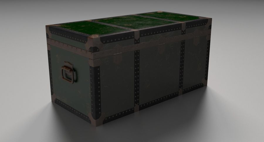 Antique Chest royalty-free 3d model - Preview no. 10
