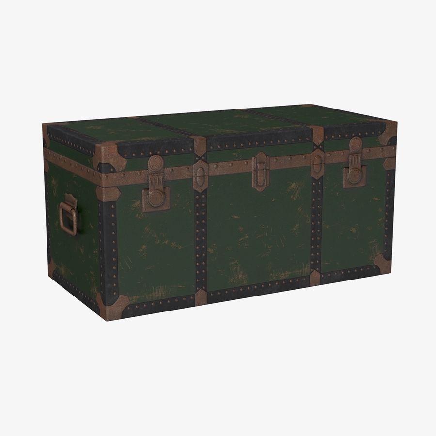 Antique Chest royalty-free 3d model - Preview no. 1