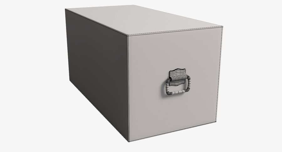 Antique Chest royalty-free 3d model - Preview no. 15