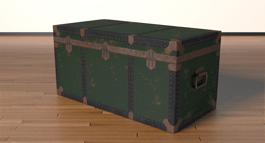 Antique Chest royalty-free 3d model - Preview no. 19