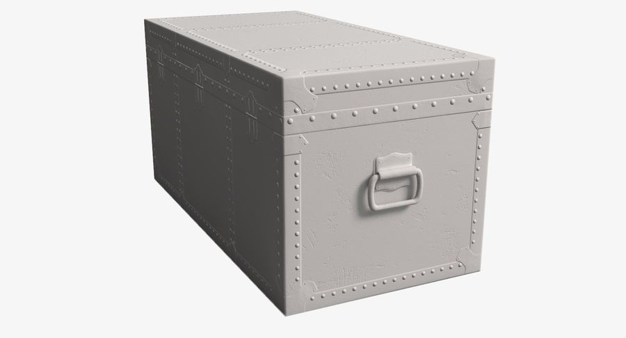 Antique Chest royalty-free 3d model - Preview no. 14