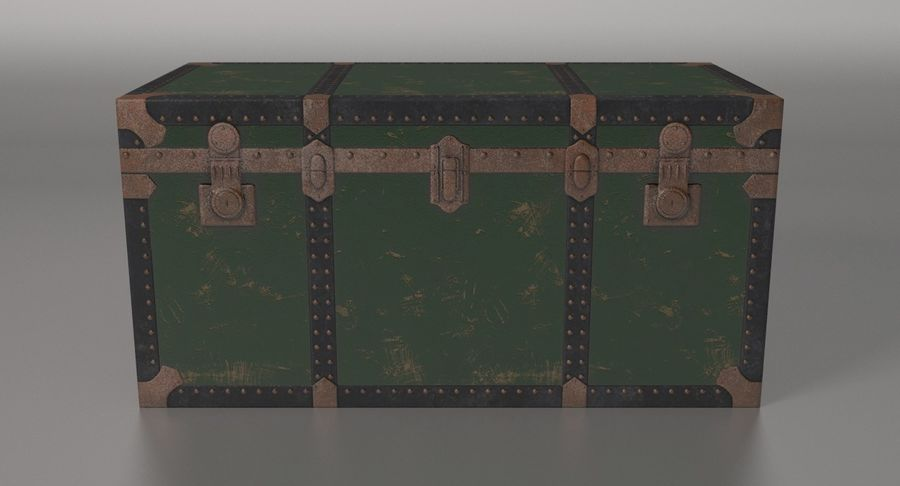 Antique Chest royalty-free 3d model - Preview no. 16