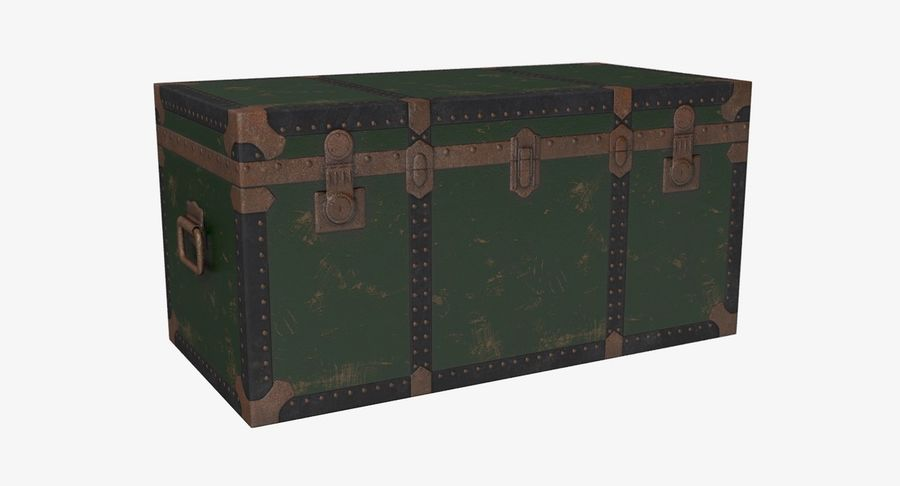 Antique Chest royalty-free 3d model - Preview no. 2