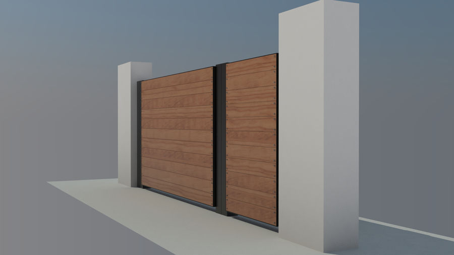 3 Typ Holzzaun royalty-free 3d model - Preview no. 7