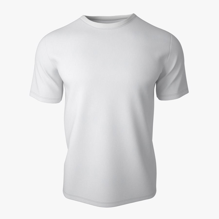 T-shirt v2 royalty-free 3d model - Preview no. 1