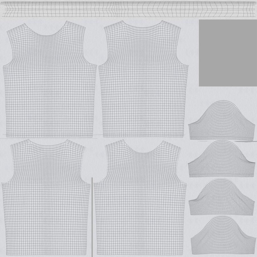 T Shirt V2 royalty-free 3d model - Preview no. 18
