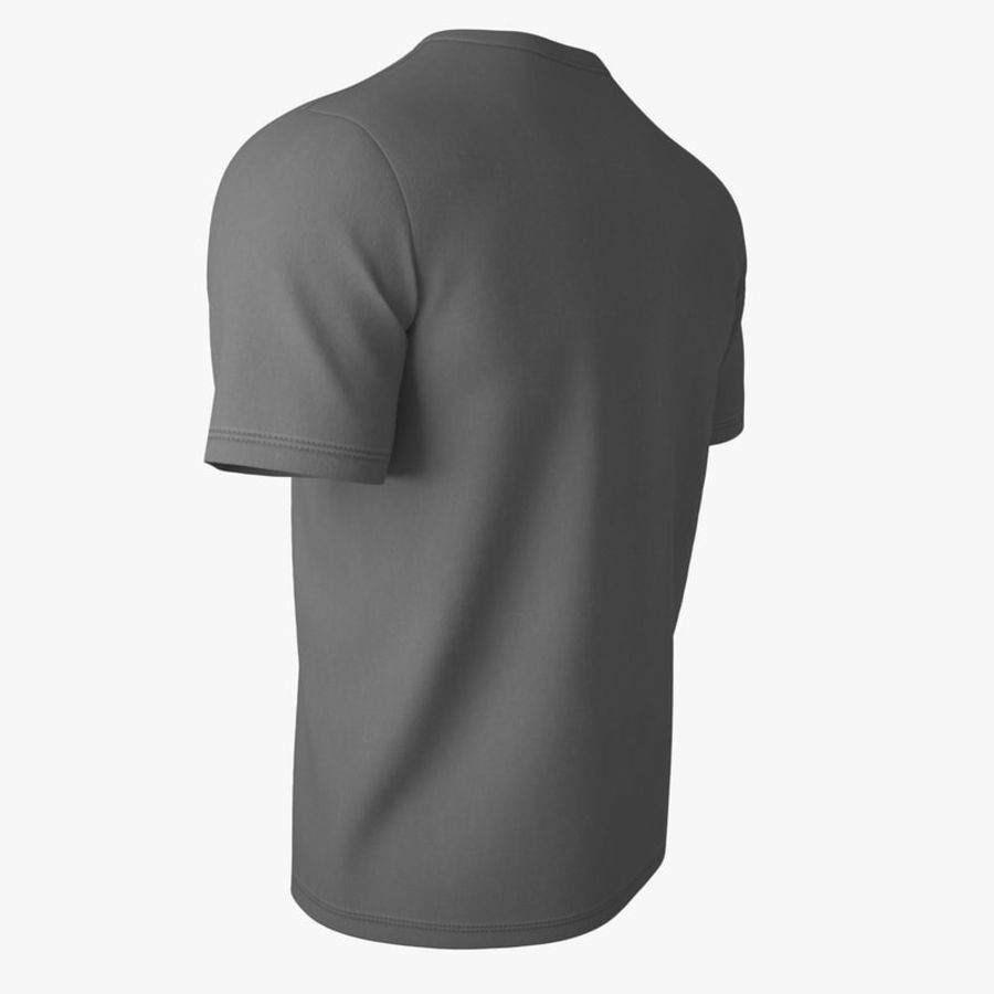 T Shirt V2 (Szary Solid) royalty-free 3d model - Preview no. 6