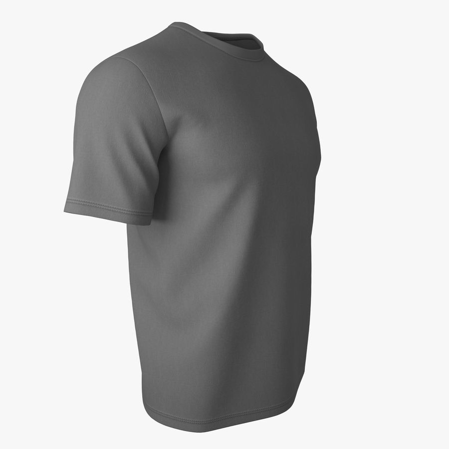 T Shirt V2 (Szary Solid) royalty-free 3d model - Preview no. 2