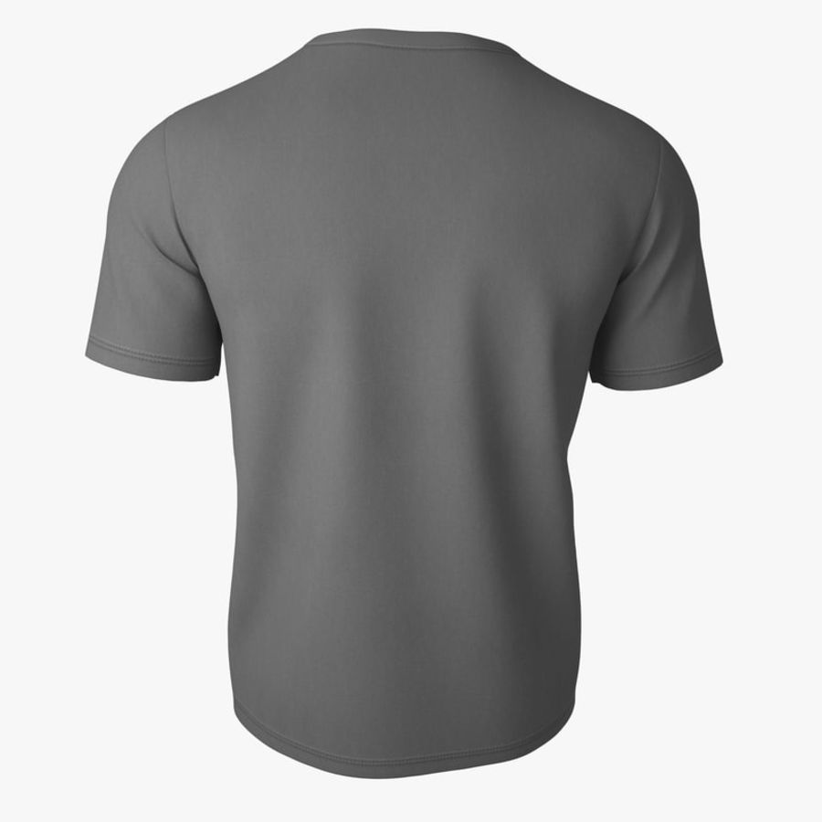 T Shirt V2 (Szary Solid) royalty-free 3d model - Preview no. 5