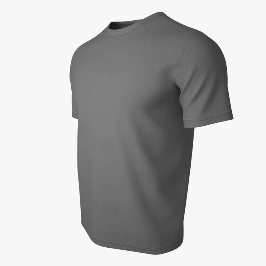 T Shirt V2 (Szary Solid) royalty-free 3d model - Preview no. 8
