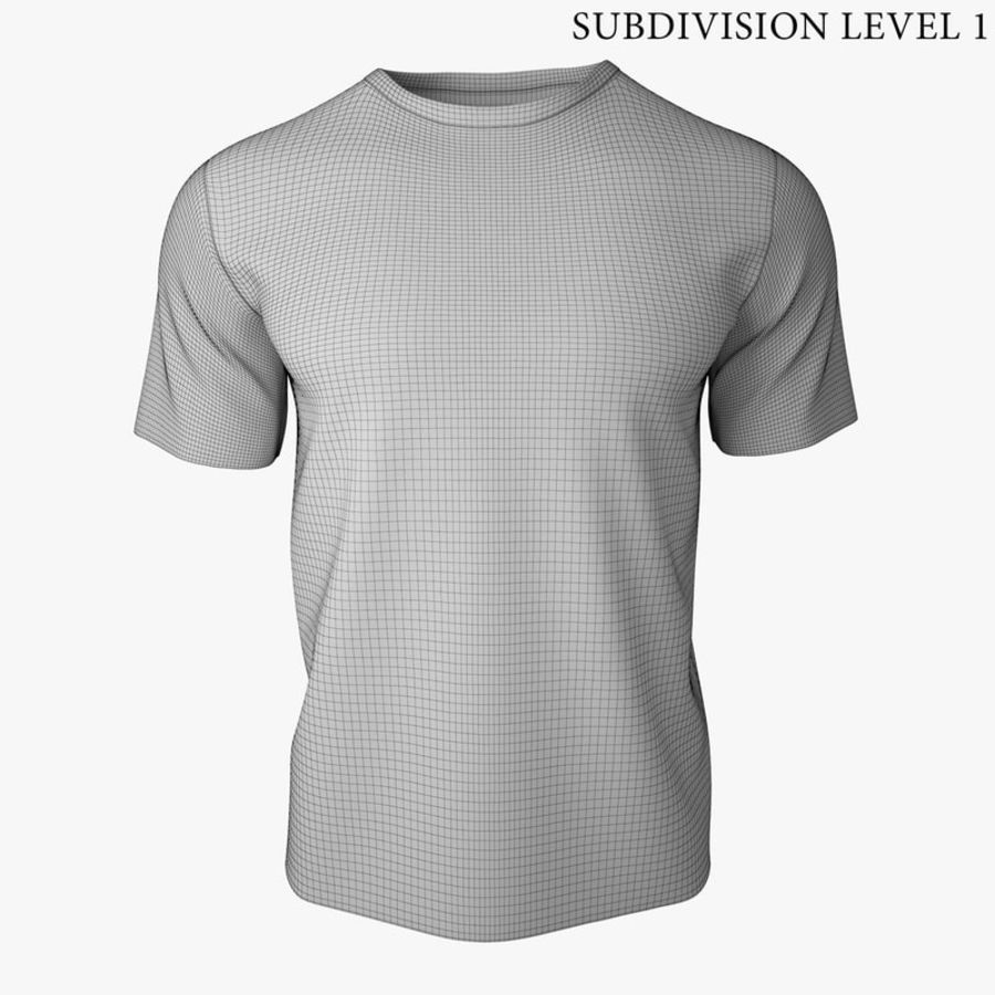 T Shirt V2 (Szary Solid) royalty-free 3d model - Preview no. 9