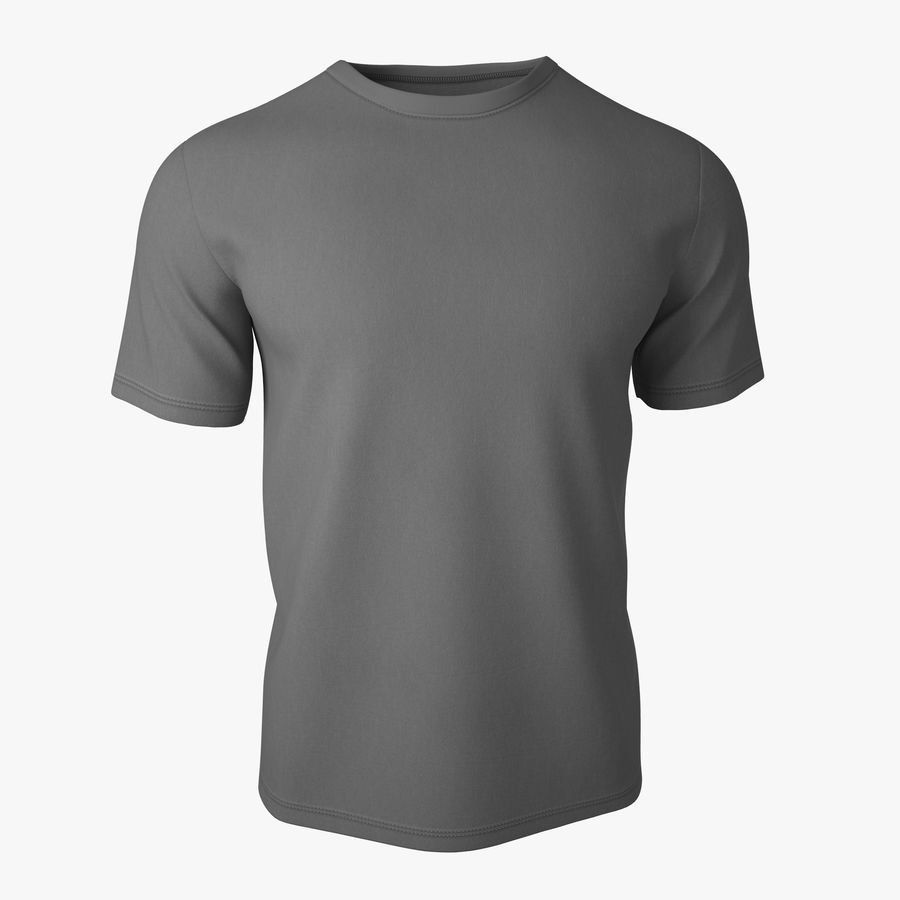 T Shirt V2 (Szary Solid) royalty-free 3d model - Preview no. 1