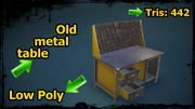 Old metal table 3d model