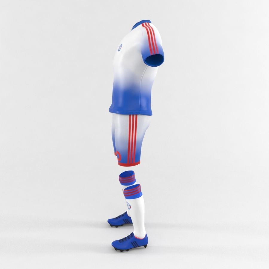 Football Equipment royalty-free 3d model - Preview no. 4