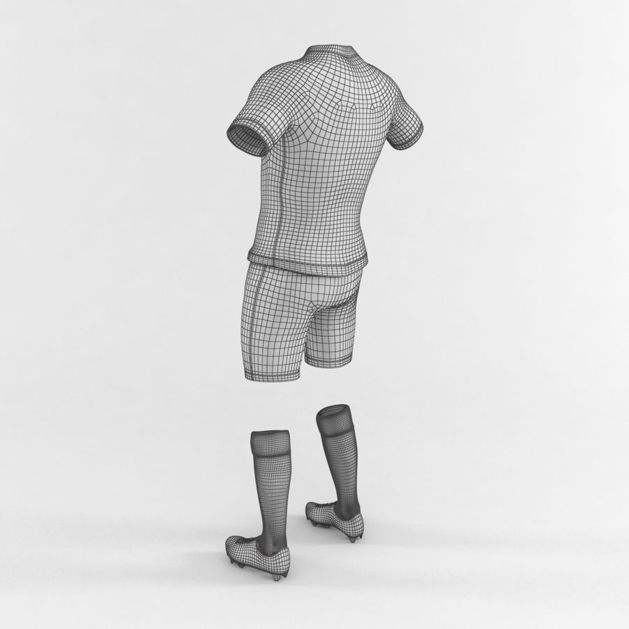 Football Equipment royalty-free 3d model - Preview no. 5