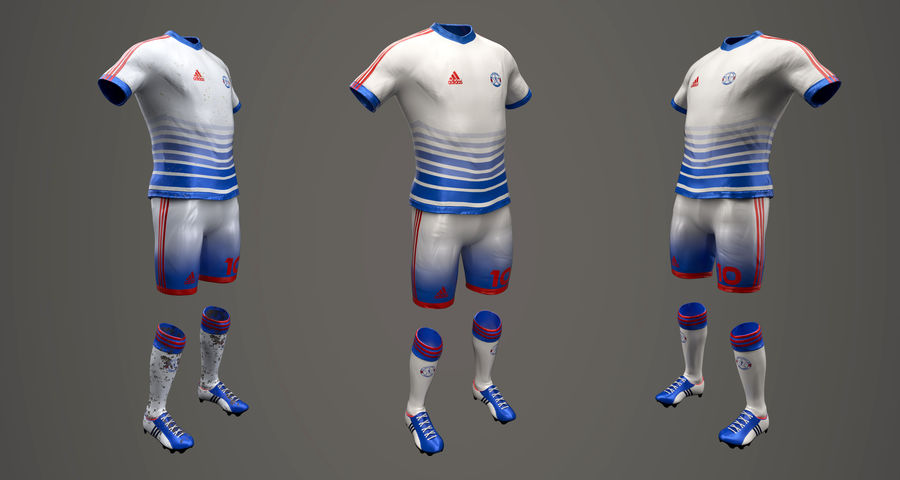 Football Equipment royalty-free 3d model - Preview no. 1
