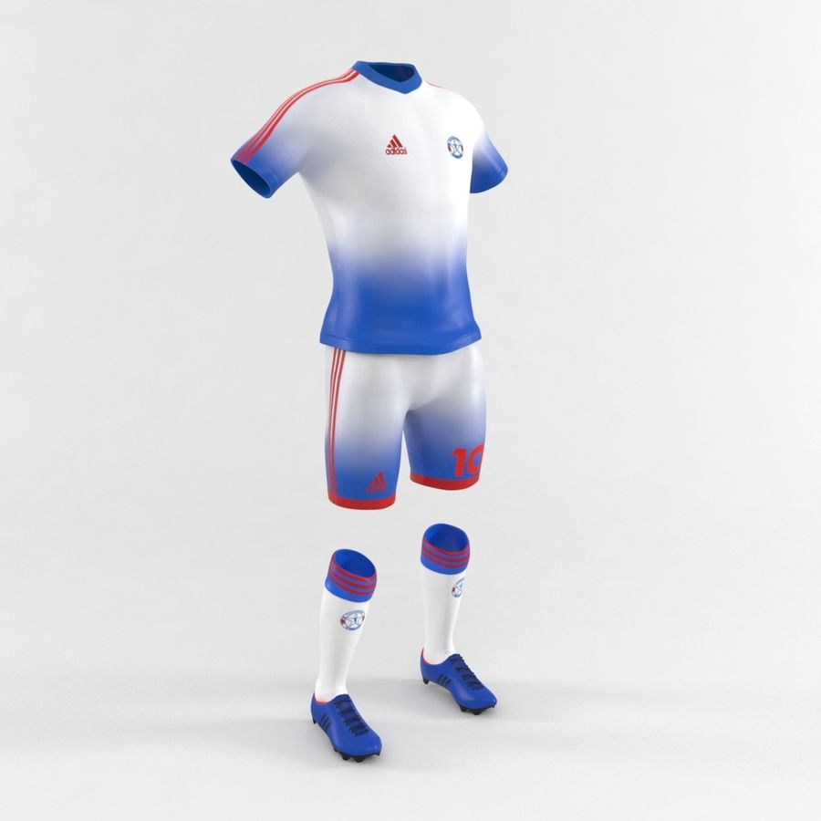Football Equipment royalty-free 3d model - Preview no. 2