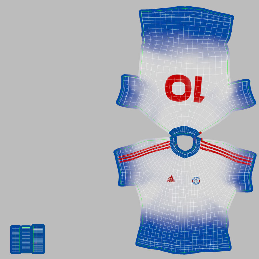 Football Equipment royalty-free 3d model - Preview no. 8