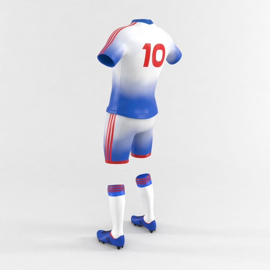 Football Equipment royalty-free 3d model - Preview no. 6