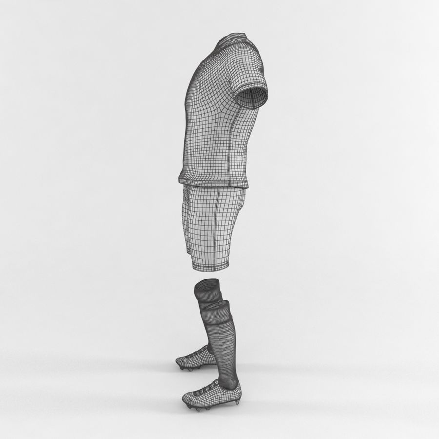 Football Equipment royalty-free 3d model - Preview no. 3