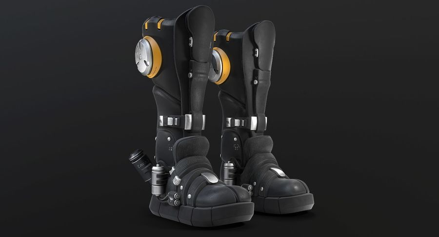 Sci-Fi Boots royalty-free 3d model - Preview no. 3