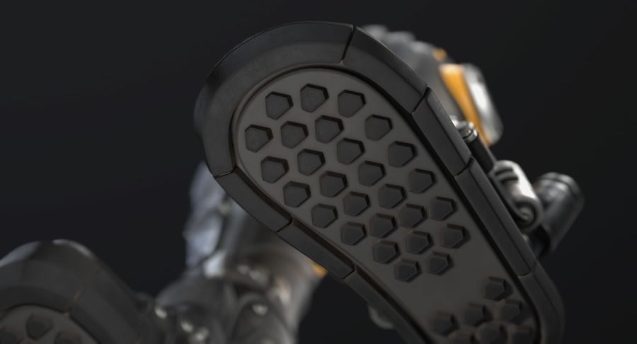 Sci-Fi Boots royalty-free 3d model - Preview no. 7