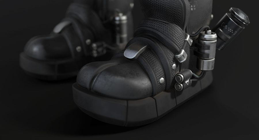 Sci-Fi Boots royalty-free 3d model - Preview no. 6