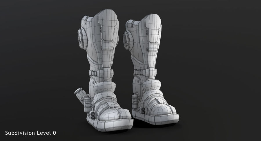 Sci-Fi Boots royalty-free 3d model - Preview no. 12