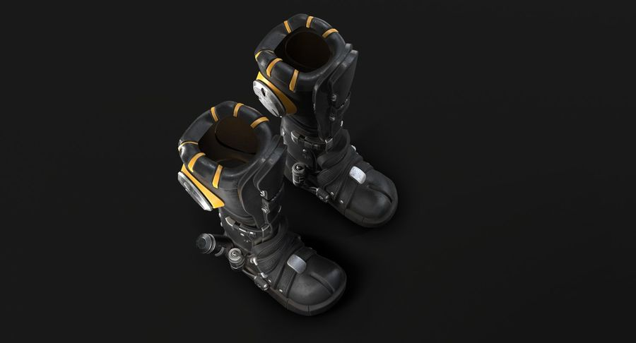 Sci-Fi Boots royalty-free 3d model - Preview no. 9