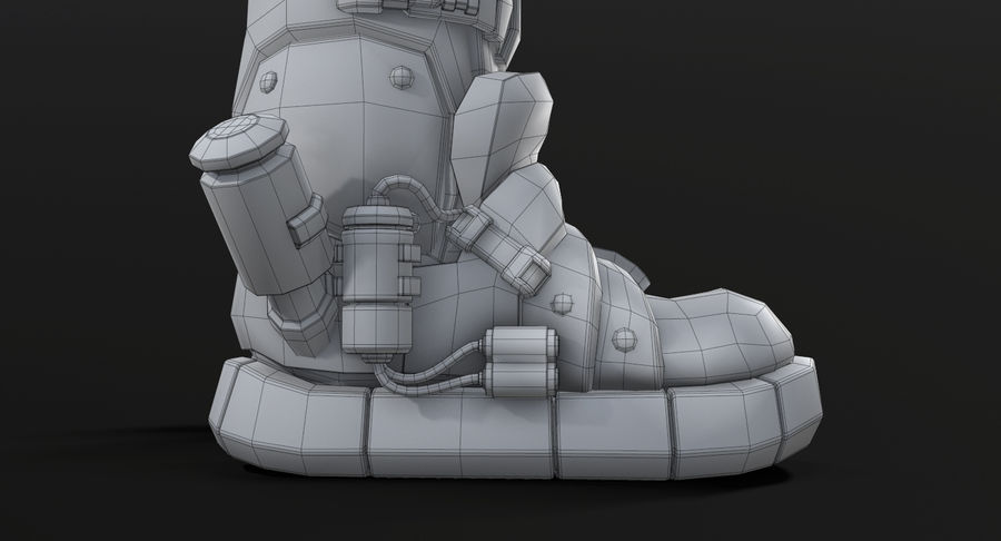 Sci-Fi Boots royalty-free 3d model - Preview no. 15