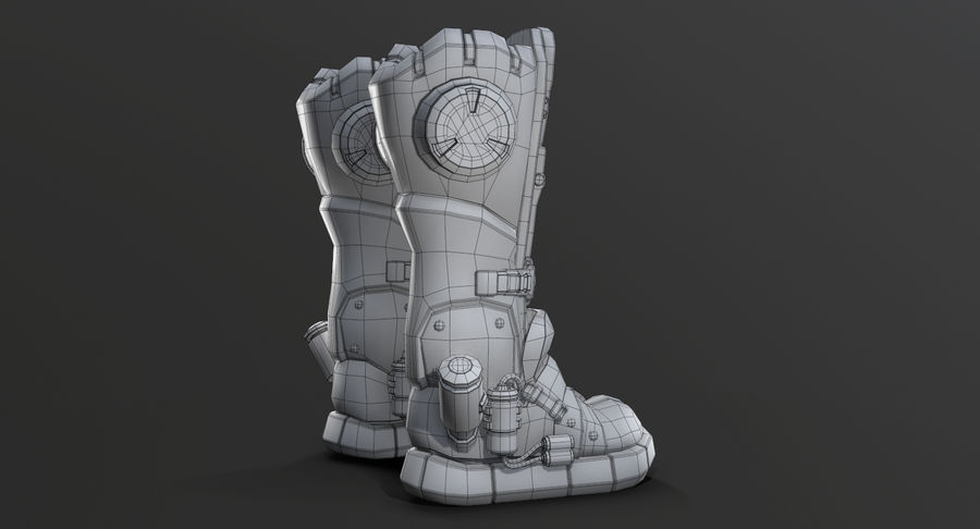 Sci-Fi Boots royalty-free 3d model - Preview no. 14