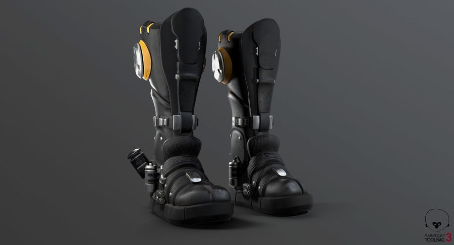 Sci-Fi Boots royalty-free 3d model - Preview no. 18