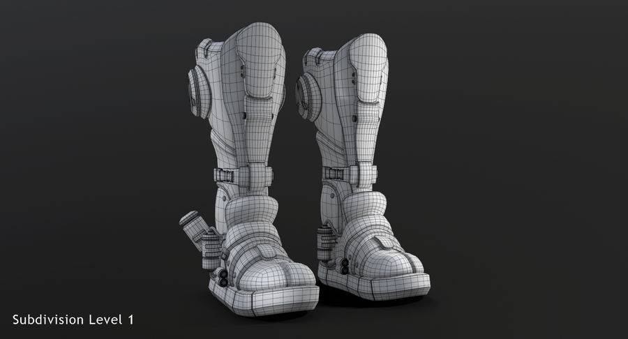 Sci-Fi Boots royalty-free 3d model - Preview no. 13