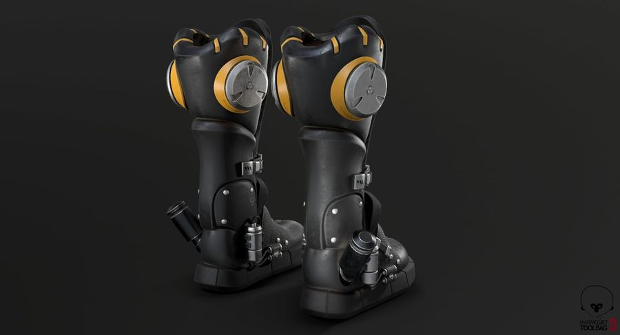 Sci-Fi Boots royalty-free 3d model - Preview no. 19