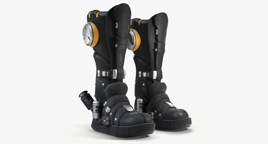 Sci-Fi Boots royalty-free 3d model - Preview no. 2