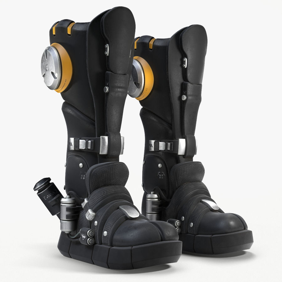 Sci-Fi Boots royalty-free 3d model - Preview no. 1