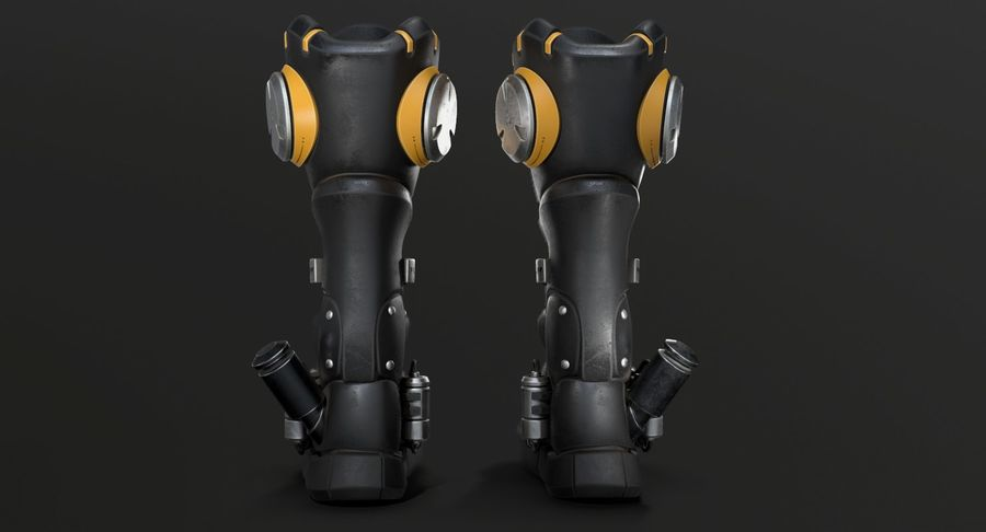 Sci-Fi Boots royalty-free 3d model - Preview no. 10