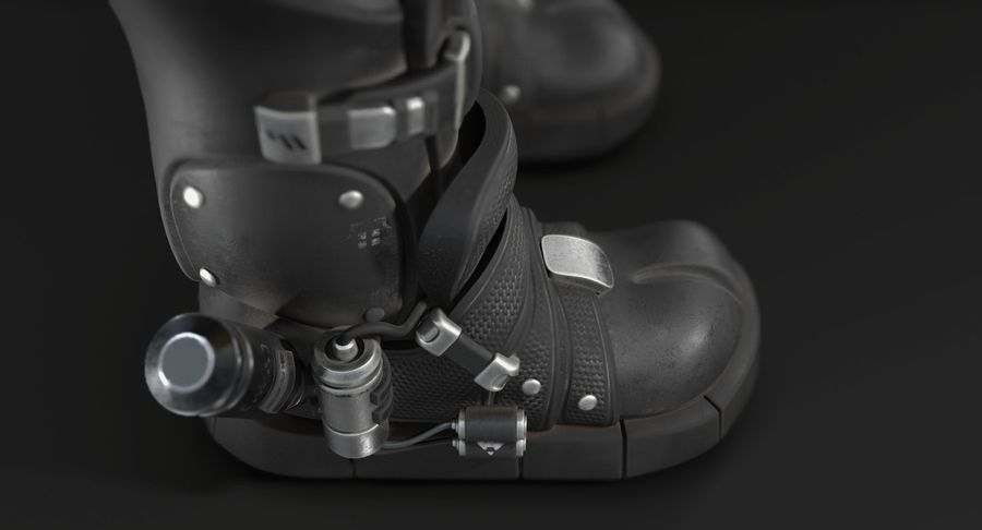 Sci-Fi Boots royalty-free 3d model - Preview no. 5